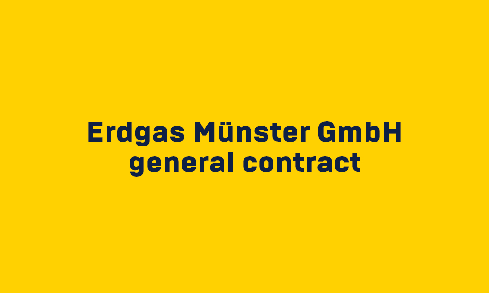 Project Erdgas Münster GmbH general contract